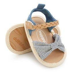 2018 verano nueva moda sandalias bebé arco lienzo pu casual suave sandalias del bebé
