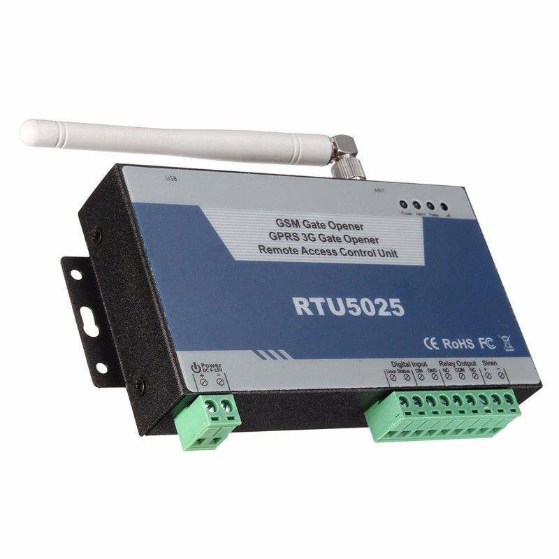 GSM Gate Opener Door Opener(RTU5025) Remote Access Control Unit 999 users open Gate/Barrier/Shutter/Garage Door