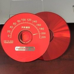 Wholesale 5 discs A+ Blank Printed 52x 700MB Car Speedometer Red CD-R