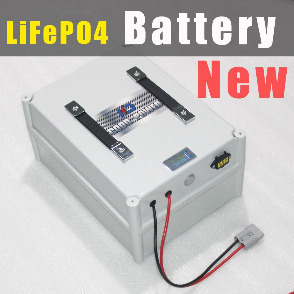 5 PCS 8S 25.6V 80Ah LiFePO4 Battery Portable Box with BMS and Charger