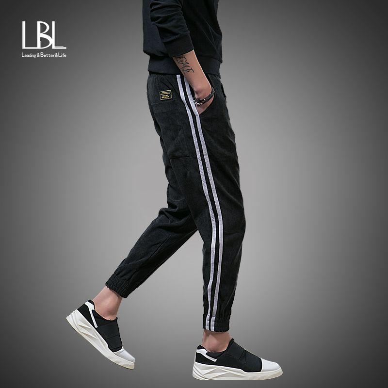 Mens Joggers Striped Pants 2018 New Fashion Tracksuit Bottoms Men Casual Pants Cotton Sweatpants Gyms Clothing Pantalones Hombre
