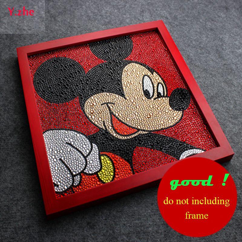 Bon Diamant Peinture Mickey Mouse Diy 5D Diamant Peinture Mickey Mouse Full Broderie 3 Tailles Diamant Strass 30*30 cm