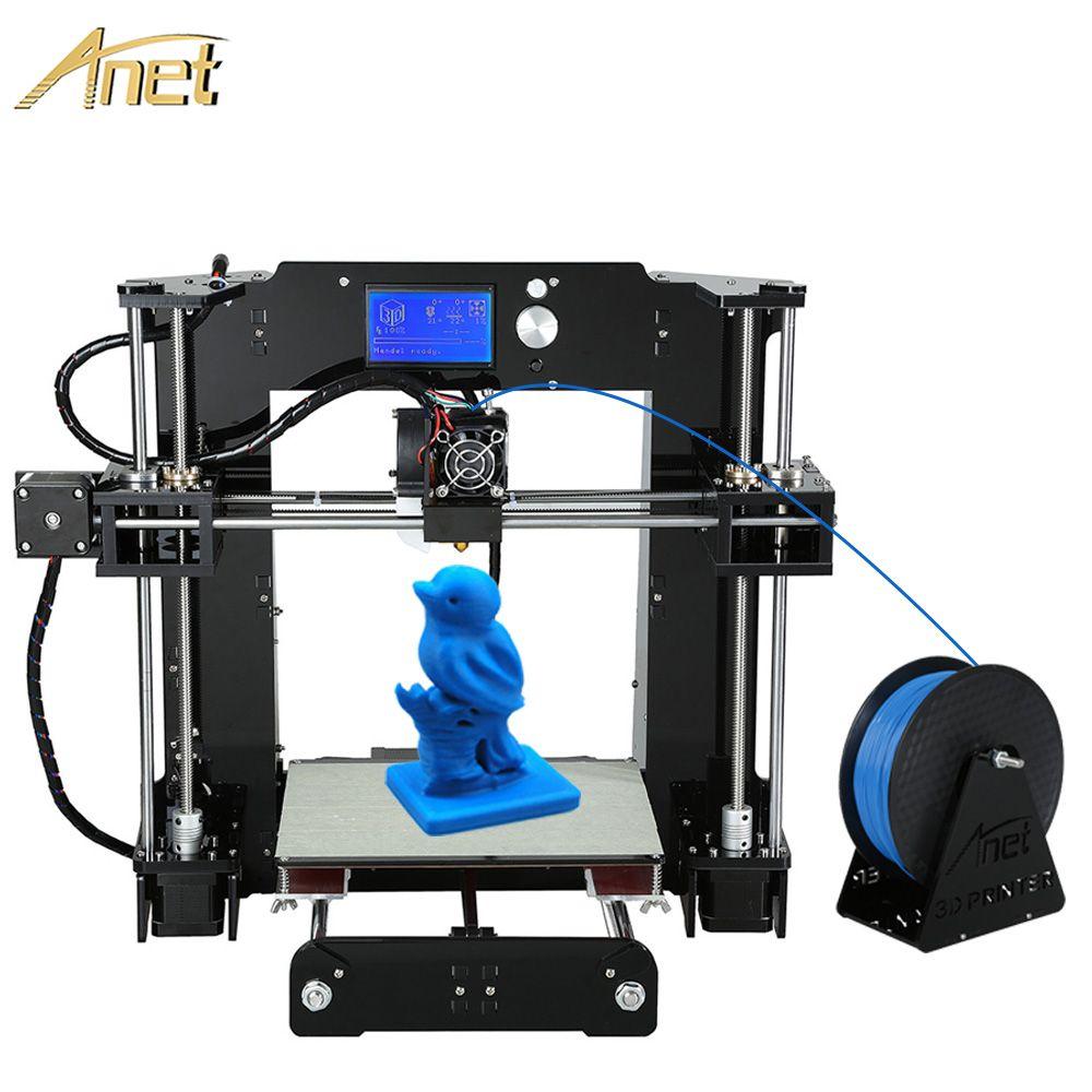 2018 Upgraded Anet A6 Auto A6 High-precision impresora 3d printer big Machine Reprap 3D Printer DIY Kit With Free 10M Filament
