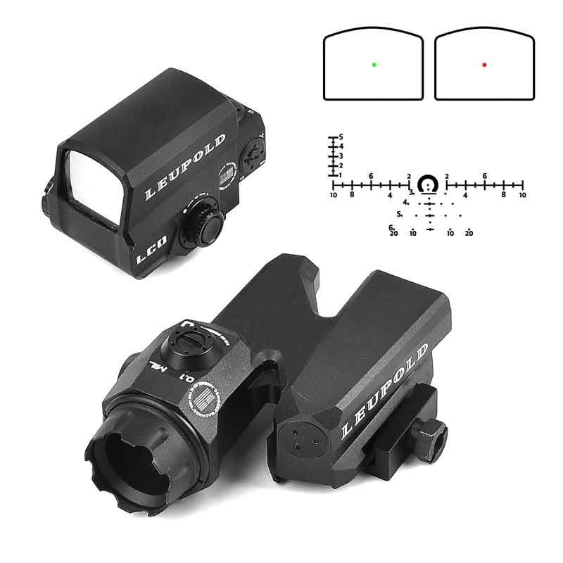 LEUPOLD Dual-Enhanced Optical Sight D-EVO Reticle Rifle Scope with LCO Red Dot Sight Reflex Sight Holographic Sight for Hunting