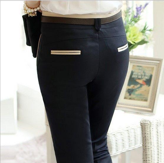 2016 New Stylish Ladies Formal Wear Office Suits Work Pants Black Beige Women Business Cargo Pants Dress Pantalon S-XXXL