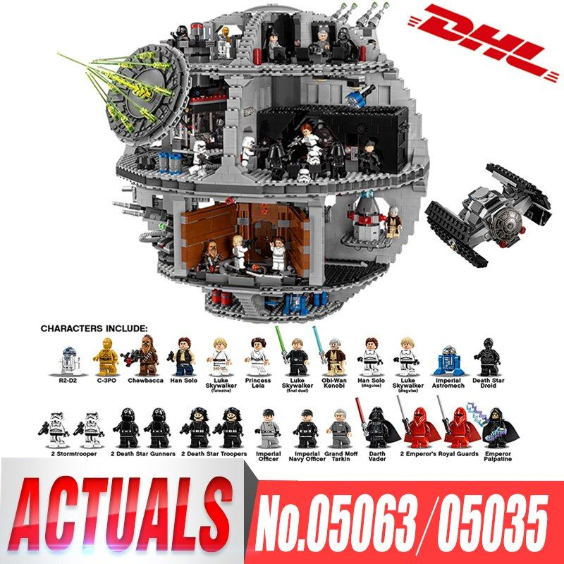 DHL Lepin 05063 05035 Star Series Wars UCS Death Star Educational Building Blocks Bricks Toys Compatible LegoINGlys 75159 10188