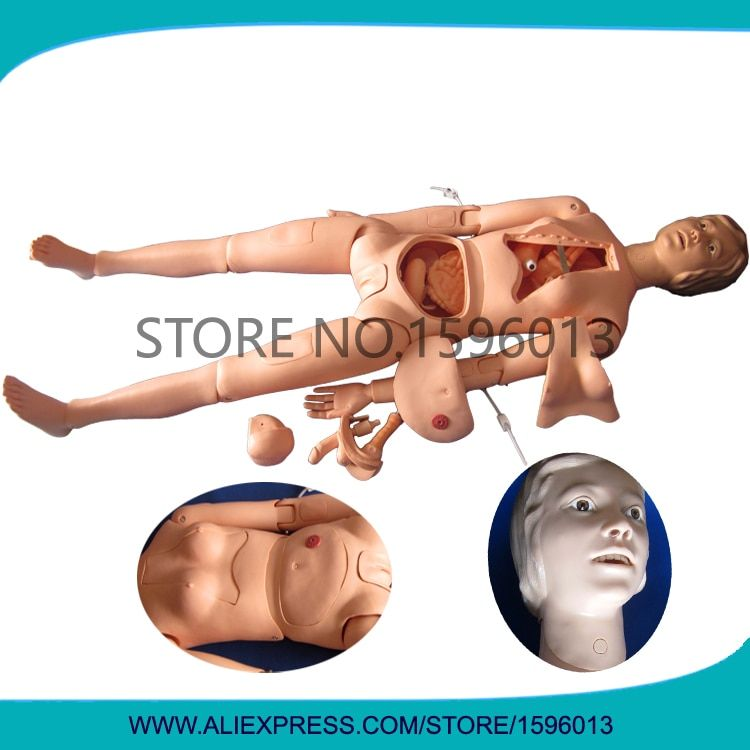 High Quality Female Nursing Training Manikin, Full Body Nursing Dummy