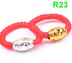ZTUNG R23 nouveautés bijoux R Classique argent Rouge corde R23 anneau pour femmes et hommes cadeau bijoux