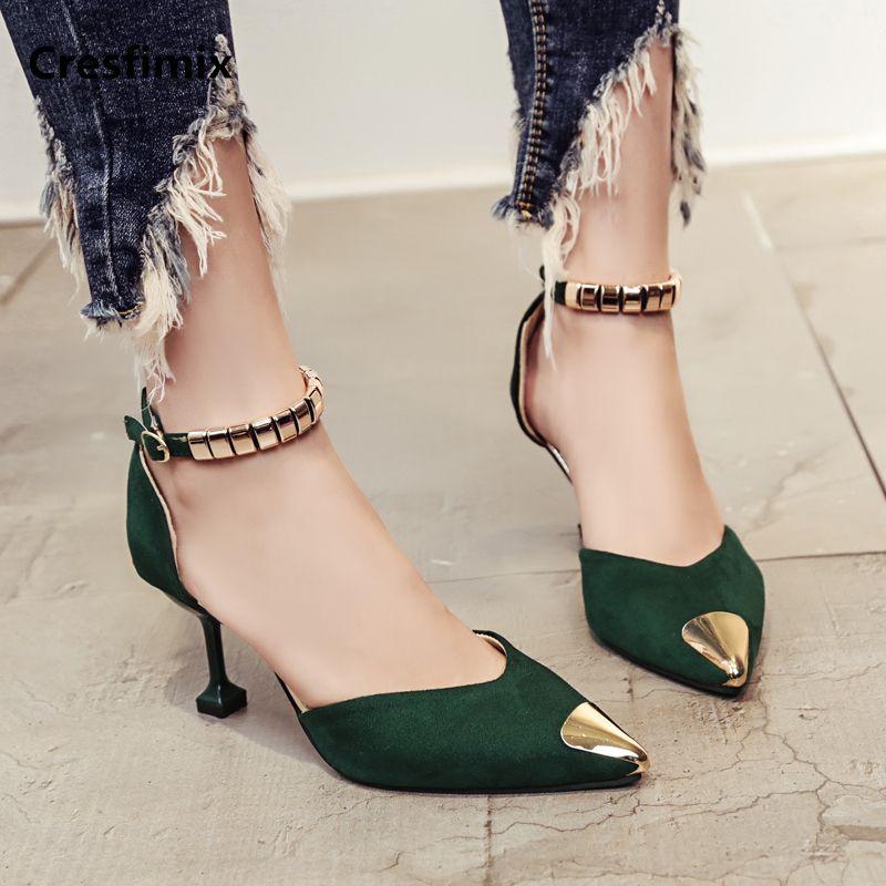 Cresfimix femmes hauts talons women fashion & sexy wedding high heel pumps lady cute yellow comfy party high heel shoes a702