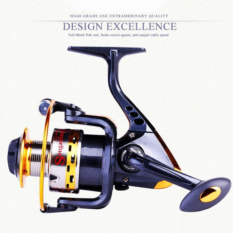 Low-cost sales YB2000-1 5.5:1 rotation rate metal high speed spinning adjustable fishing reels