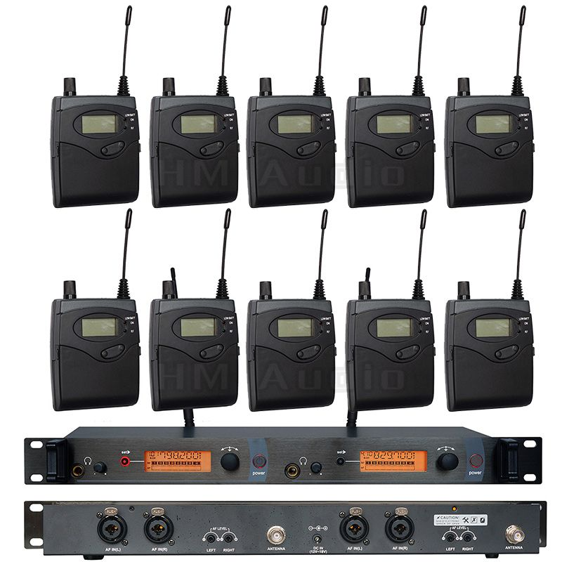 In Ear Monitor Wireless System SR2050 Double transmitter Monitoring Professional for Stage Performance 10 receivers