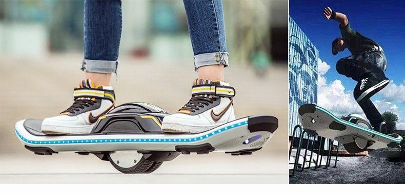 Hohe qualität ein rad balance auto elektrische skateboard mit led bluetooth
