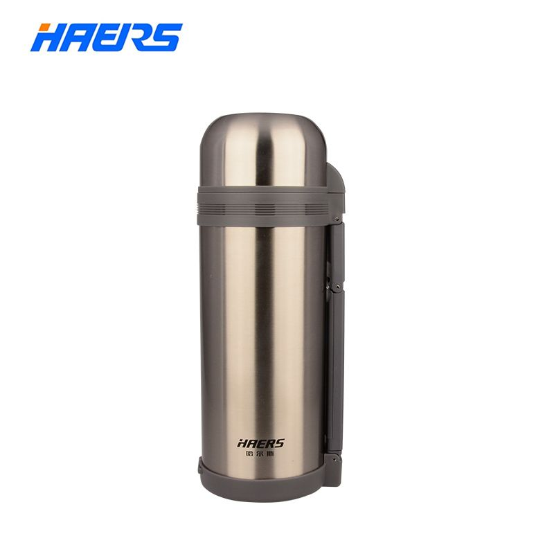 Haers 1200ml 1500ml 1800ml Wide Mouth Thermos With Hand Grip Vacuum Bottle Double Stainless Steel Insulated Thermos HG-1200-1