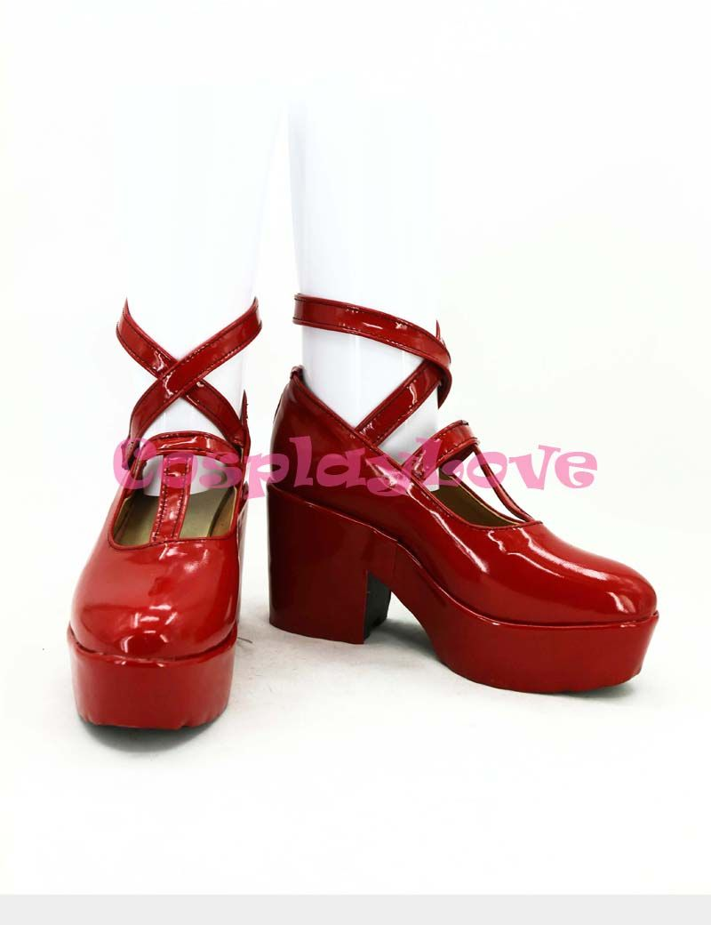 Wonderful Wonder World Alice Cosplay Shoes Boots Red Custom-made Hand Made For Halloween Christmas Festival CosplayLove