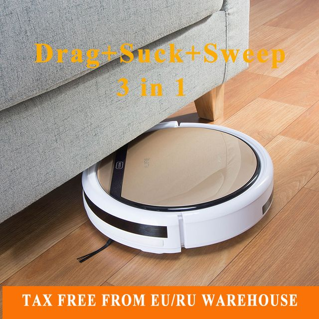 2017 V5s Pro Intelligent Robot Vacuum Cleaner with 1000PA Suction Dry and Wet Mopping