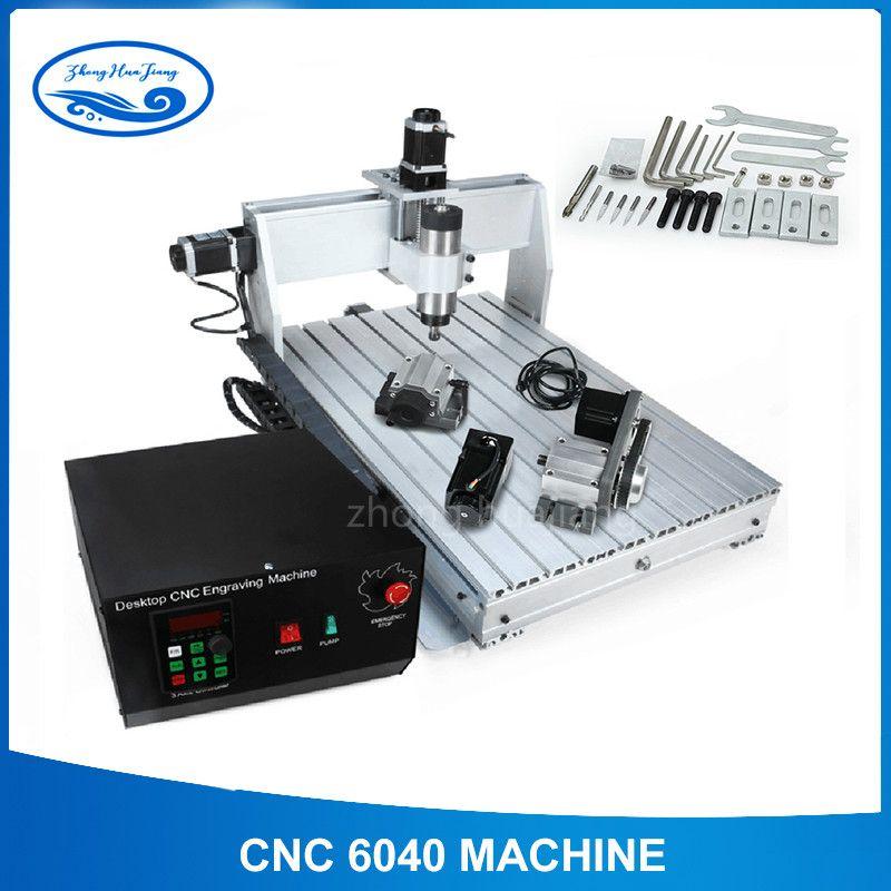 CNC 6040 2.2KW 4 achsen CNC router CNC holz carving maschine USB Mach3 control Holzbearbeitung Fräsen Stecher Maschine mit Gekühlt /Air