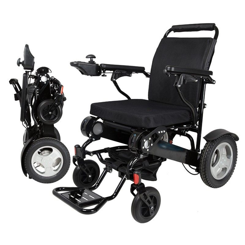 2019 neue Produkt CE FDA Leichte, Tragbare Reise Aluminium Folding Lithium-Batterie Power Elektrische Rollstuhl