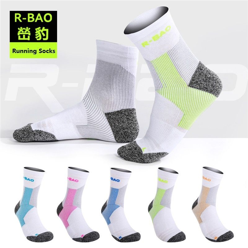 RB054 2016 New Arrival Men/Women Marathon Running Socks High-quality Protect the Ankle compression sports socks 3pairs=1Lot