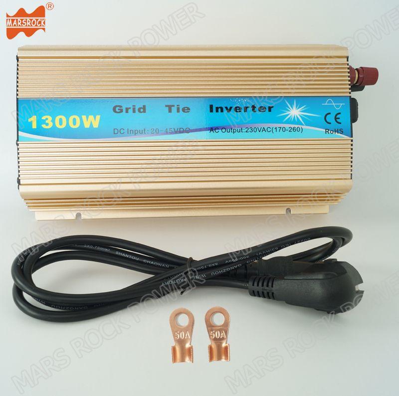 Freies Verschiffen 1300 Watt Rasterfeldriegelinverter 10,8-30VDC oder 20-45 V DC zu AC 110 V oder 220 V Reine Sinuswelle Solar-wechselrichter mit MPPT