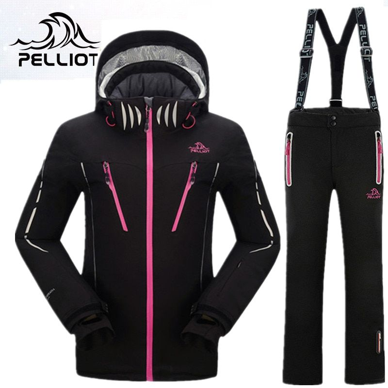 PELLIOT Mountain Skiing Suit Women Winter Outdoor Ski Suit Snowboarding Suits Thicken Warm Top Quality Ski Clothing for Female