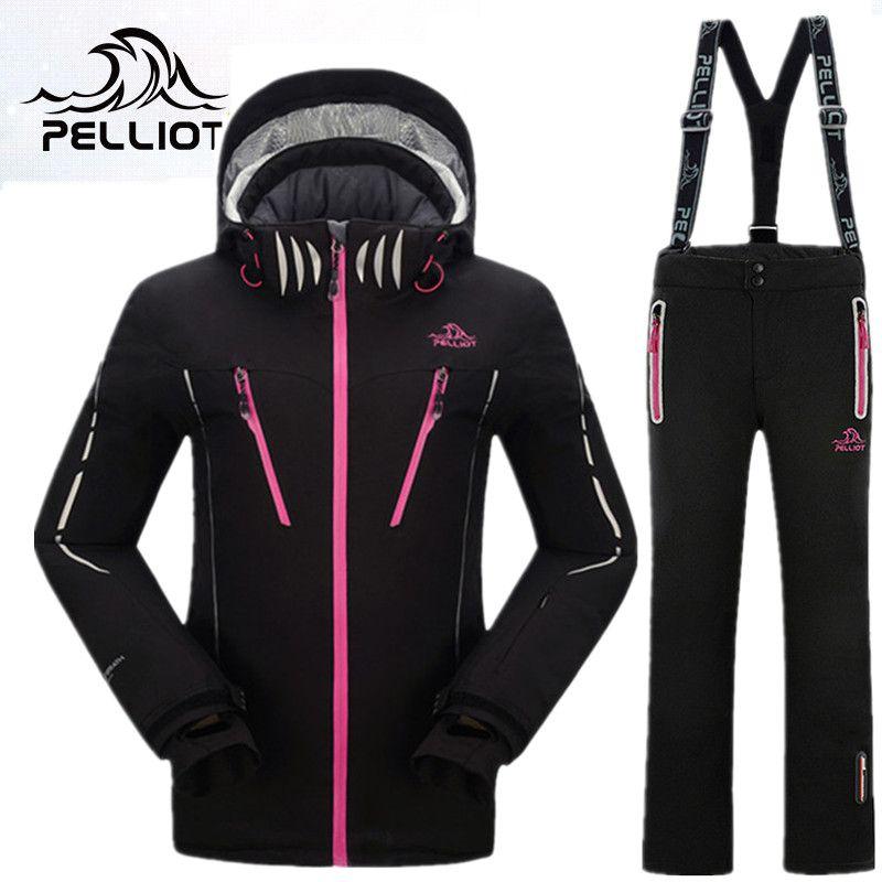 PELLIOT Mountain Ski Anzug Frauen Winter-Outdoor-Ski Anzug Snowboard Anzüge Verdicken Warm Top Qualität Ski Kleidung für Weibliche