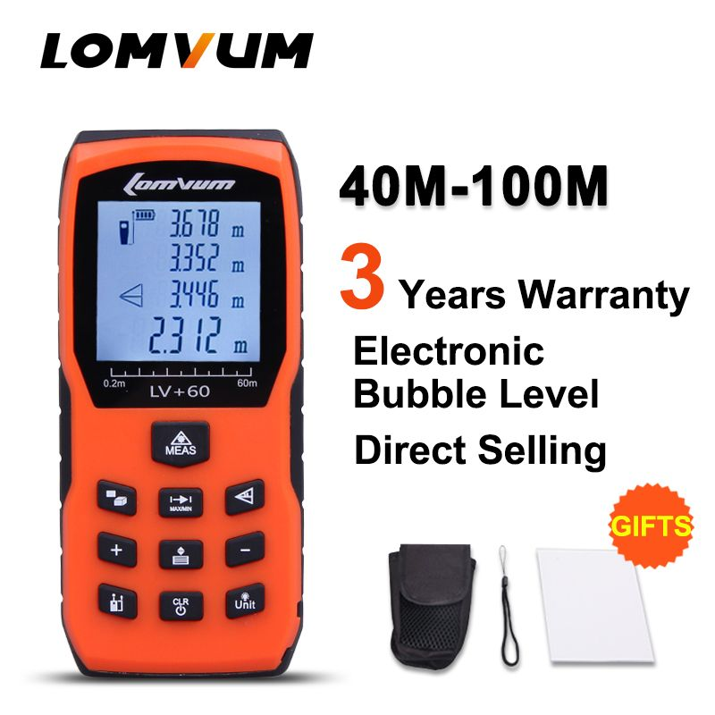 LOMVUM 40m Case Trena Measure Tape Medidor Laser Ruler Digital Distance Meter Measurer Range Finder Lazer Metreler