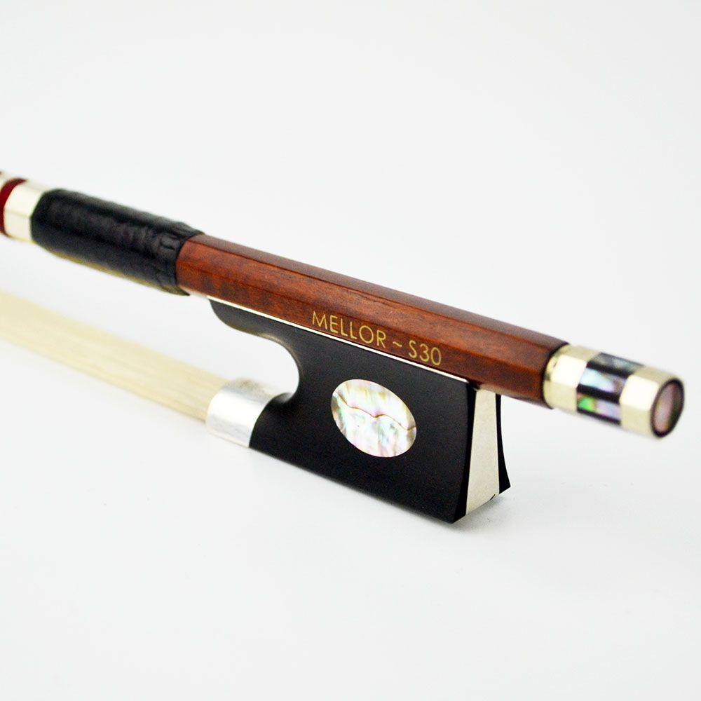 4/4 größe Silber Pernambuco Violine Bogen Natürlichen Rosshaar Master Maker Erstaunliche Ton MELLOR Solo Ebene S30 Violine Teile Zubehör