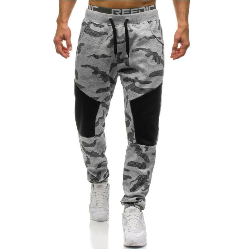 Men Casual Pants 2017 Male Brand Straight Trousers Camouflage Long Pants Cotton Sweatpants Jogger Tracksuit Funky Sweatpants XXL