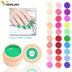 Venalisa 5 Ml Putih Jar Murni Warna Seni Menghias Kuku Gel Cat Gel Tips Dekorasi DIY Canni Harga Pabrik Lukisan LED dan Sinar UV Gel Cat