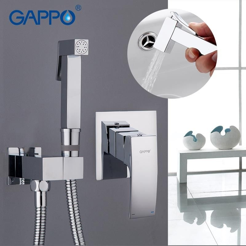 Gappo bidet faucet <font><b>Bathroom</b></font> bidet shower set Shower faucet toilet bidet muslim Brass wall mount washer tap mixer GA7207