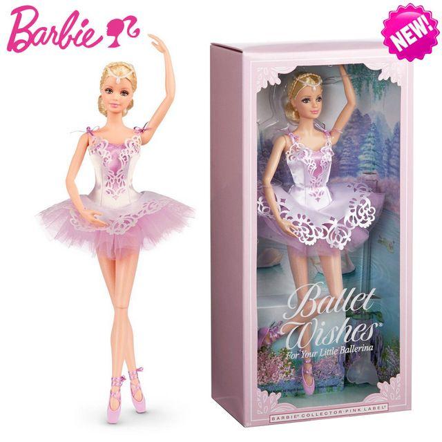 Original Barbie Doll Brand Collectible Doll Ballet wish Barbie Doll Toy Girl Birthday Present Girl Toys Gift Bonecbrinquedos