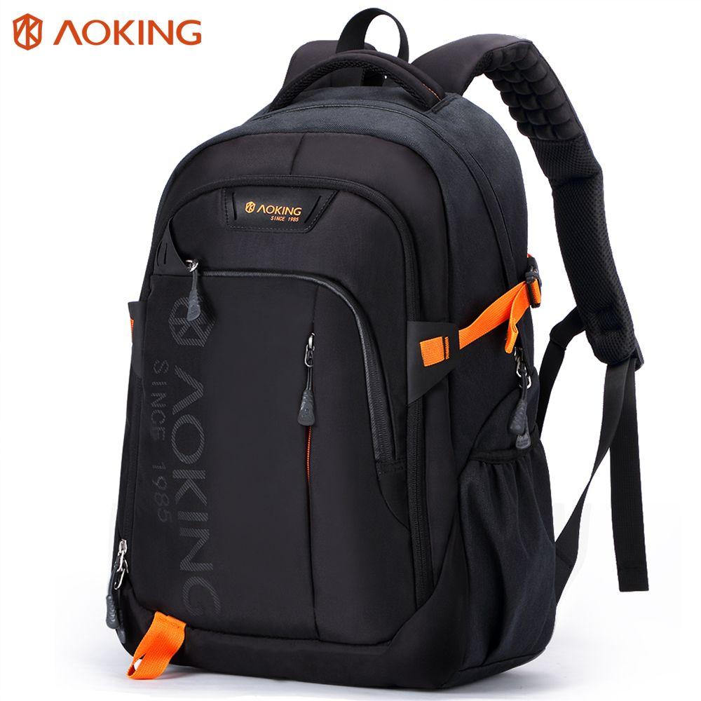 Aoking Men Women Fashion <font><b>Lightweight</b></font> Casual Travel Backpack Massage Shoulder Straps Laptop Backpack School Waterproof Rucksack
