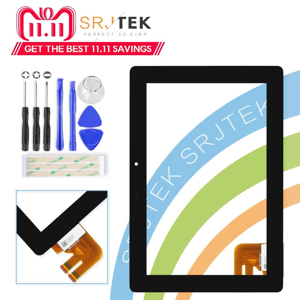 Srjtek For Asus Transformer Pad TF300T TF300 tf300tg G01 Version Black <font><b>Digitizer</b></font> Touch Screen Glass 69.10I21. G01