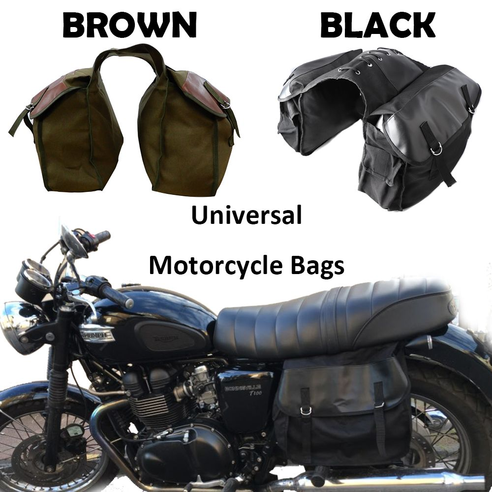 Motorcycle bag Kit Knight Rider Brown Black saddleBags for Triumph for Harley Sportster XL883 XL1200 for Ducati Motorcycle Parts