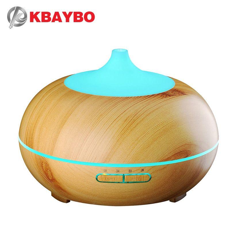 300 ml Aroma Huile Essentielle Diffuseur Bois Grain Ultrasons Brume Fraîche Humidificateur pour Office Home Chambre Étude Salon De Yoga Spa