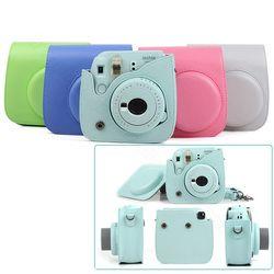 Qualität PU Leder Kamera Fall für Fujifilm Instax Mini 9 Mini 8 Instant Film Kamera, 5 farben Schutz Tasche mit Schulter Gurt