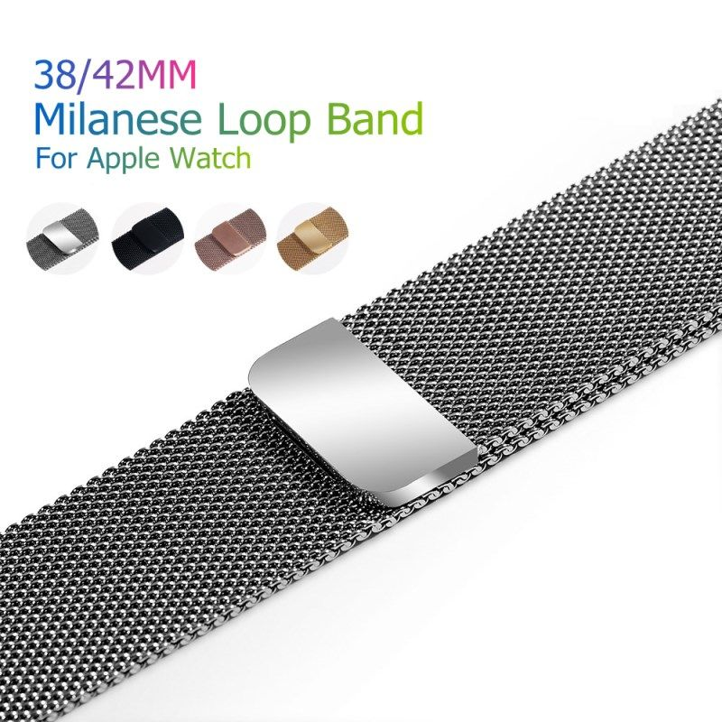 Sport Bracelet Milanese Loop Magnetic Watch Band For Apple Watch Bands Metal Stainless Steel Belt Strap Watchband Replacement