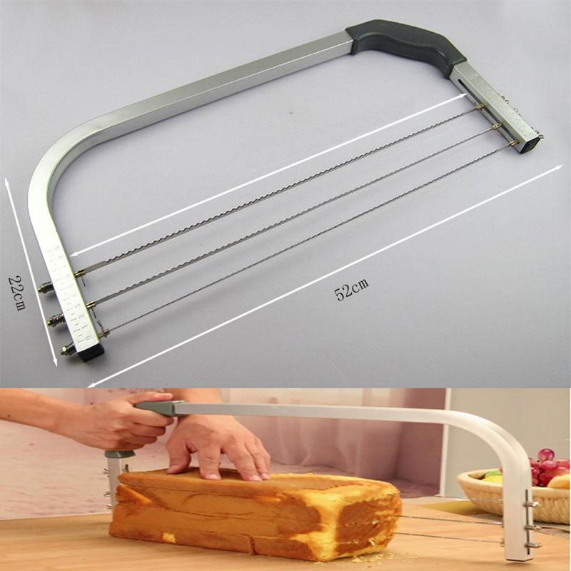 BEEMSK 1 stücke max 45 cm Backen Werkzeuge Große Kuchen Splitter Layerer Slicer Kuchen Sandwich Slicer Kuchen Sah