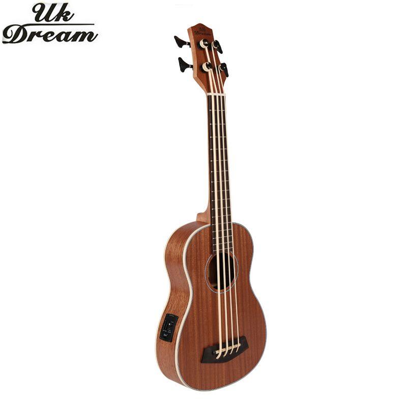 30 zoll Mini Electrica Gitarre Musikinstrumente Volle Sapele Retro Closed Knob Ukulele 4 saiten Bass Gitarre Guitarra UB-113