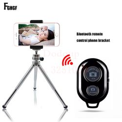 FGHGF Bluetooth Remote Tripod Bracket For iPhone Mini Portable Mount Monopod Extendable Camera Stand Universal Phone Tripods