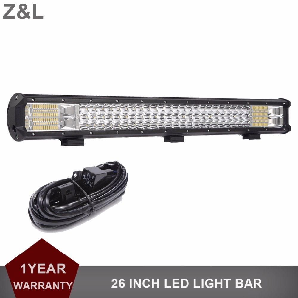 26 INCH LED Work Light Bar Offroad Driving Lamp 12v 24v Truck SUV ATV 4x4 AWD Wagon Trailer Car Tractor Pickup Auxiliary Light