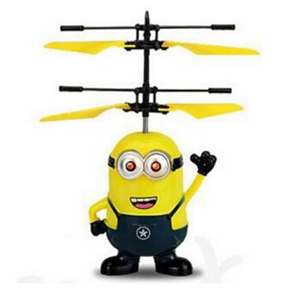 Professional Toy Seller MJDTOYS Remote Control RC Flying Induction Toys Me Minion Plane Airplane Drone Quadcopter Aircraft