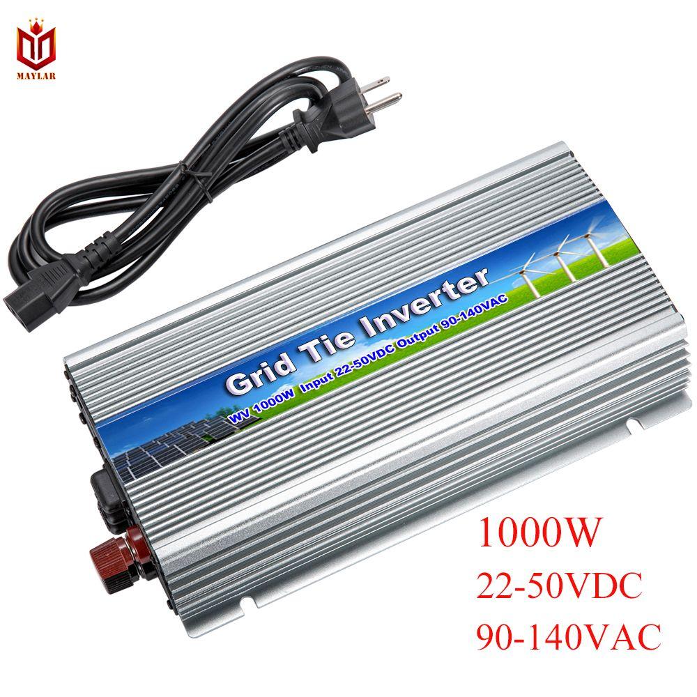 MAYLAR@ 20-50Vdc 1000W Solar Pure Sine Wave Grid Tie MPPT Inverter Output 90-140V 50hz/60hz For Alternative Energy Home System