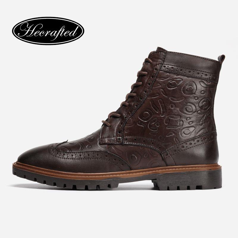 Из кожи с натуральным лицевым покрытием Мужская зимняя обувь Размер 38-47 ручной работы теплые Мужские зимние сапоги # 3hc598jm