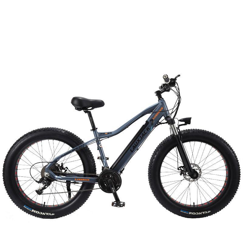 LAUXJACK Fatbike Elektrische Fahrrad Alluminium Rahmen 27 Geschwindigkeit Mechaniker Bremse 26 x4.0 Rad