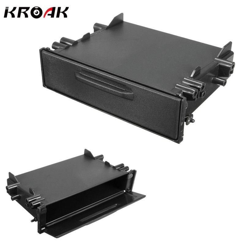 Kroak Universal Single Din CD Player Dash/Radio Stereo Universal Car Storage For Pocket Box Trim Kit