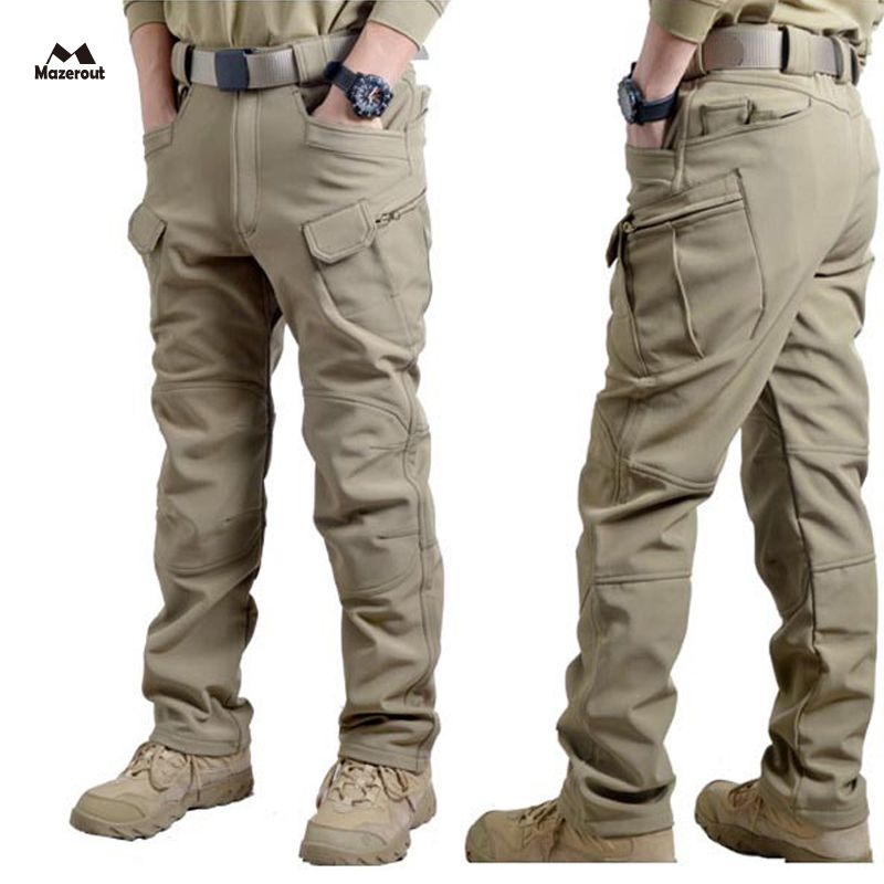 MAZEROUT Men Winter Waterproof Hunting Tactical SharkSkin Softshell Military Pant Outdoor Trousers Army Hiking Camping 3XL P43