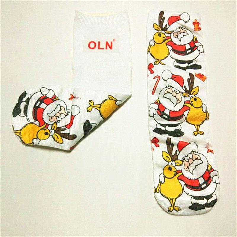 OLN AII 11-23 new arrivel custom Santa Claus, elk 3 d printed socks, Christmas gifts, individual character is dye-in-the-wood
