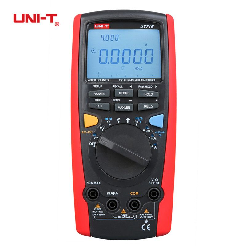UNI-T UT71A UT71B UT71C UT71D UT71E True RMS Digital Multimeter With USB Interface Frequency Voltage Tester Meter Power 2500W