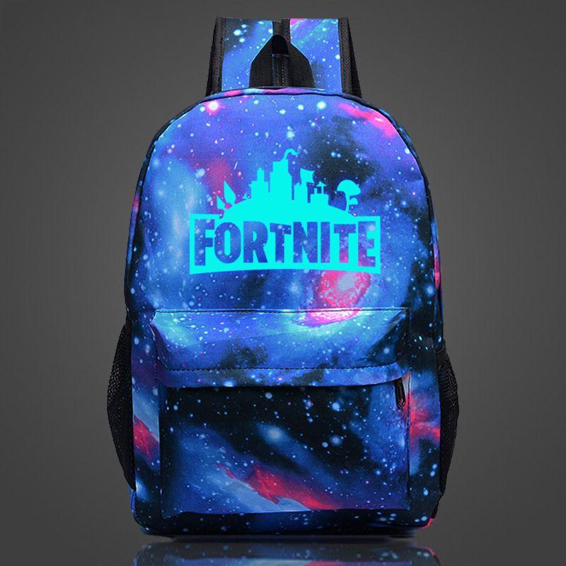 FVIP Fortnite Battle Royale School Bag Noctilucous Backpack Student Luminous Backpack Notebook Bags